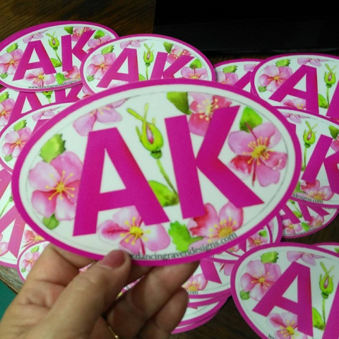 Sticker - AK Wild Rose (large)