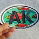 Sticker - AK Salmon (large)