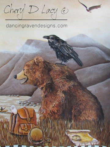 Bear and Raven - Limited Edition Print