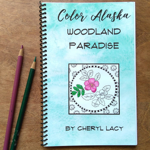 coloring book - woodland paradise