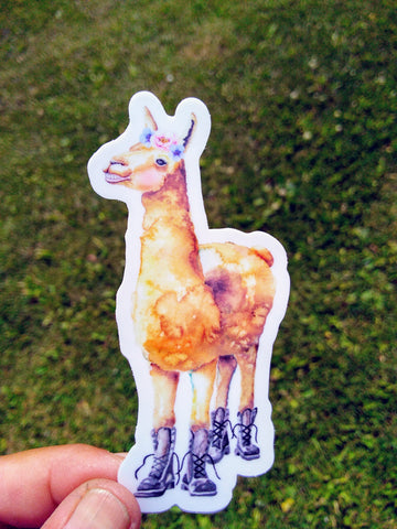 Sticker - Your Llama wears combat boots!