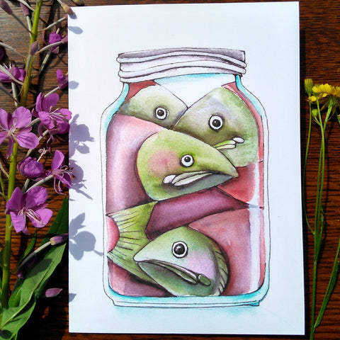 Greeting Card - Canned Salmon