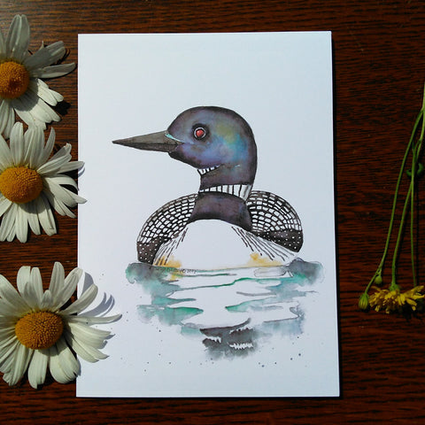 Greeting Card - Loon