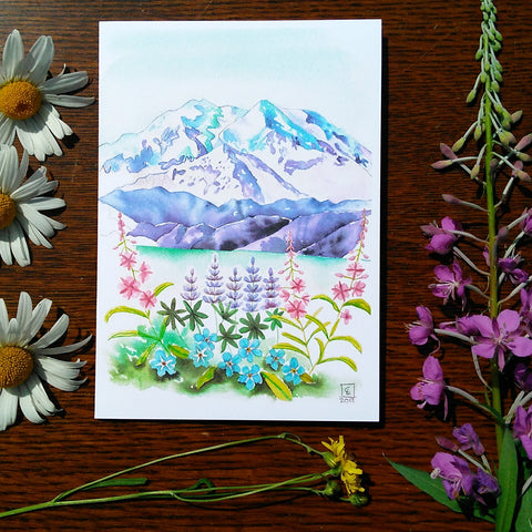 Greeting Card - Denali Wildflowers