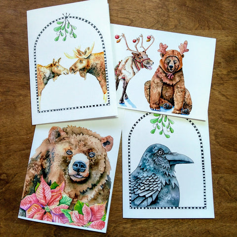 Christmas Greeting Card - Wildlife Set