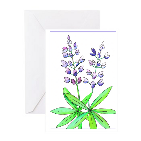 Greeting Card - Lupine
