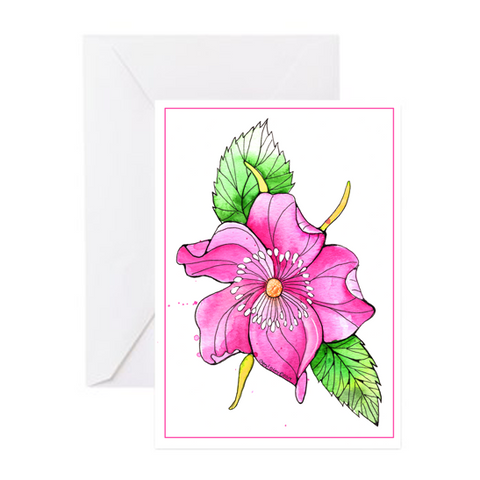 Greeting Card - Wild Rose