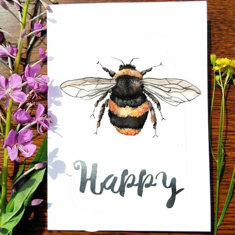 Greeting Card - Bee Happy