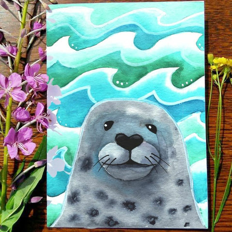 Greeting Card - Seal