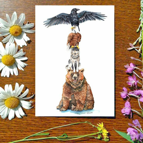 Greeting Card - Totem