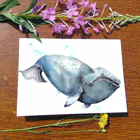 Greeting Card - Right Whale