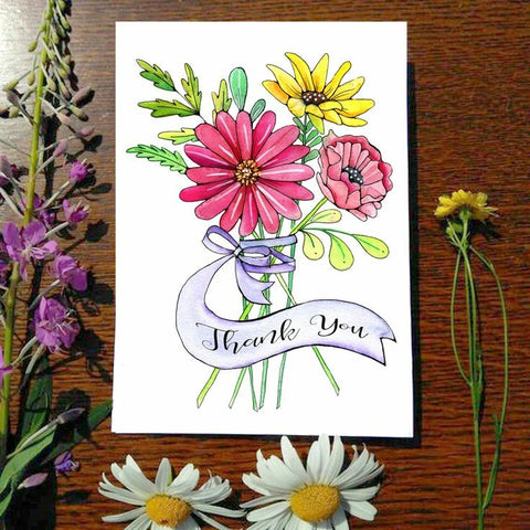 Greeting Card - Thank you bouquet