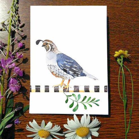 Greeting Card - Quail