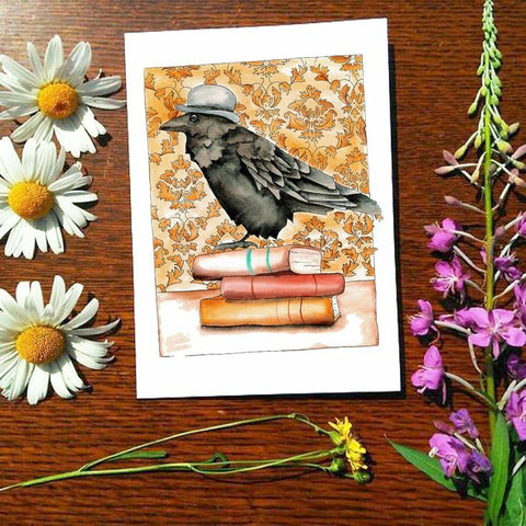 Greeting Card - Dapper Raven