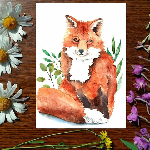 Greeting Card - Foxy Loxy