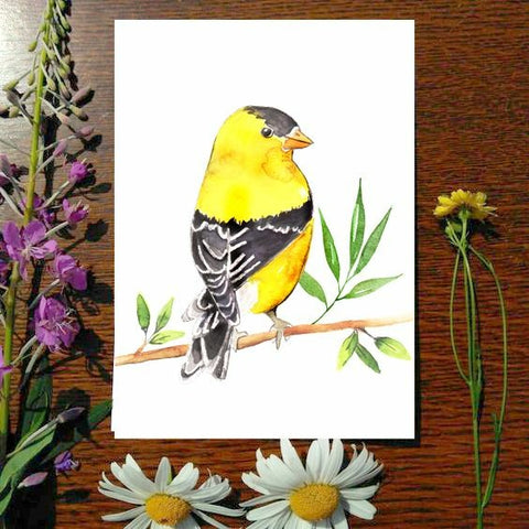 Greeting Card - Goldfinch