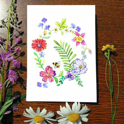 Greeting Card - Spring Wreath