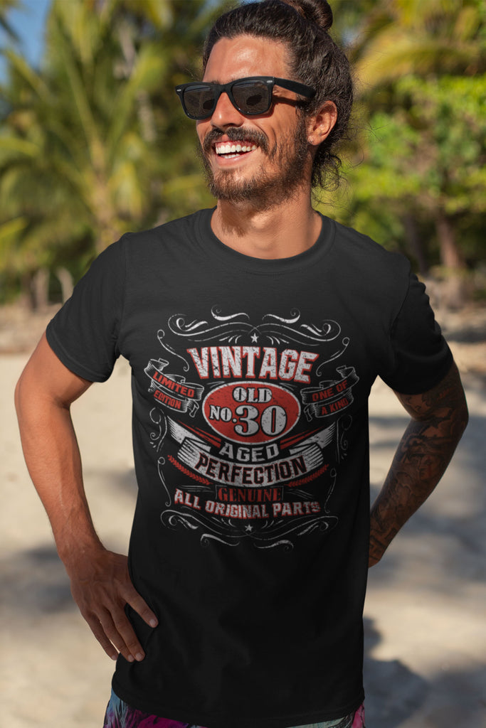 Vintage No. Aged Perfection Birthday Gift Shirt (Customize Age)