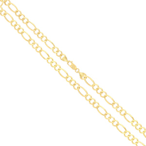 Figaro Link Chain - 10K Solid Yellow