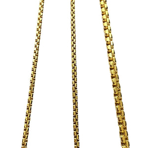 10K-H190BOX-Y  4mm 10k Hollow Yellow Gold Box Chain