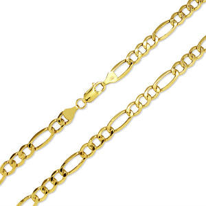 Figaro Link Chain - 14K Hollow
