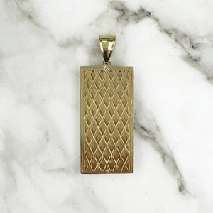 Fine Gold Bar Pendant - 10K