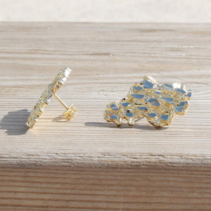 Africa Nugget Stud Earrings - 10K