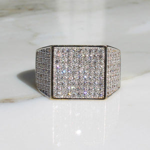 Micro Pave Mens Ring - 10K