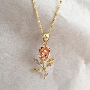 Rose Flower Pendant - 10K