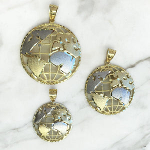 World Globe Pendant - 10K