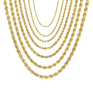 Diamond Cut Rope Chain - 10K Hollow