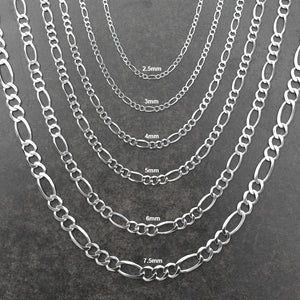 Figaro Link Chain - 10K Solid White