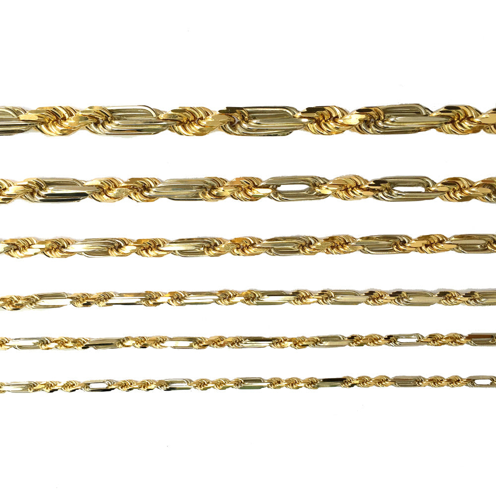 Figarope Chain - 14K Solid