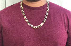 Cuban Link Chain - 10K Solid Yellow