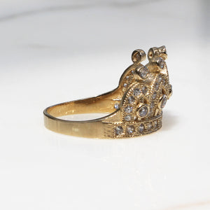 CZ Crown Ring
