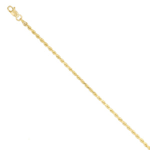 Diamond Cut Rope Chain - 10K Solid