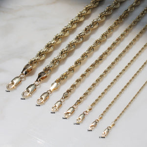 Diamond Cut Rope Chain - 14K Solid