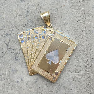 Royal Flush Pendant - 10K