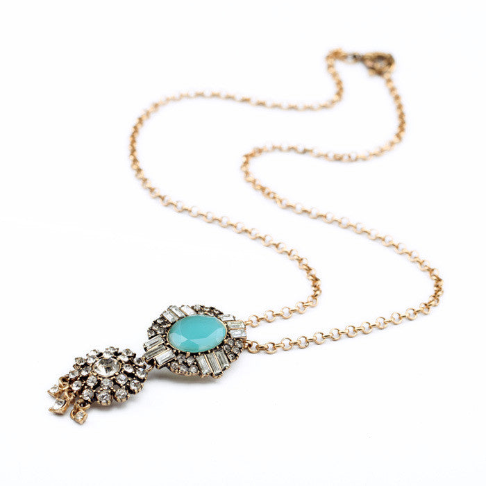 Long Turquoise Necklace - My Glam Styles  - 1