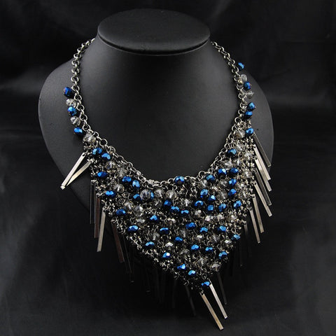 Beautiful Blue Pearl Necklace
