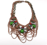 Chains Faux Gem Fashion Necklace - My Glam Styles  - 1