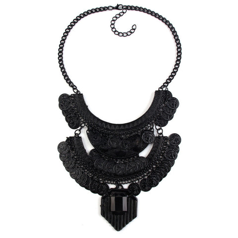 Black Coins Fashion Necklace