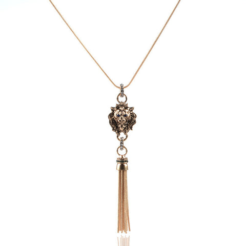 Lion Fashion Long Necklace