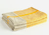 heavyweight yellow t-pattern linen bath towel stack