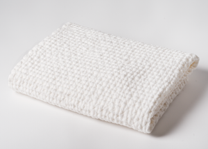 diamond weave linen x-large bath sheet - white