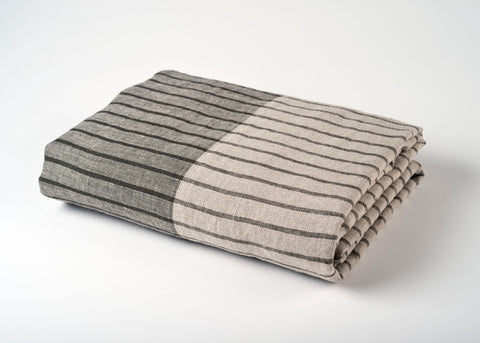 travel weight linen beach blanket - gray