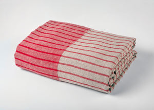 travel weight linen beach blanket - red