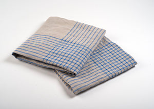 100% Linen Dish Towels Blue