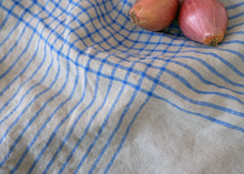 Load image into Gallery viewer, 100% Linen Dish Towels Blue