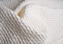 Load image into Gallery viewer, diamond weave linen washcloth - white